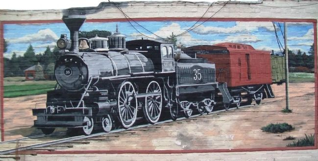 Railroad Boom Mural Detail image. Click for full size.