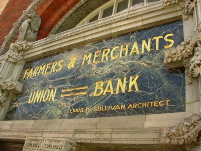 Farmers and Merchants Union Bank image. Click for full size.