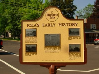 Iola's Early History Marker - Reverse side image. Click for full size.