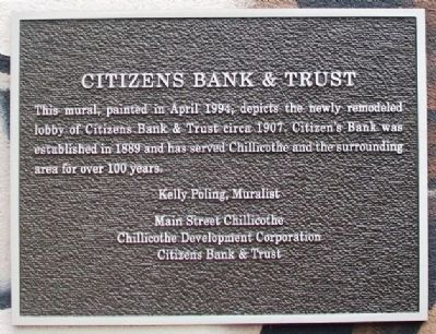 Citizens Bank & Trust Marker image. Click for full size.