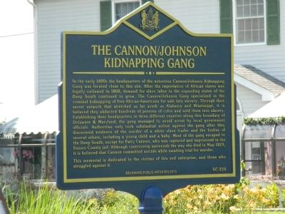 The Cannon/Johnson Kidnapping Gang Marker image. Click for full size.