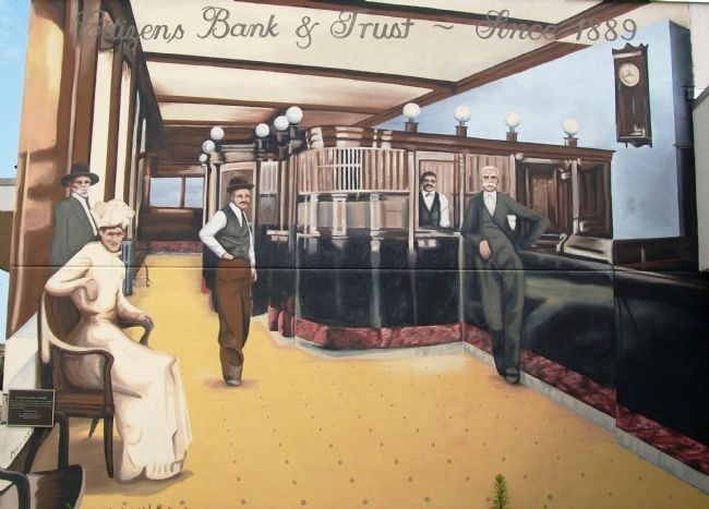 Citizens Bank & Trust Mural and Marker image. Click for full size.