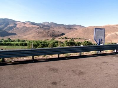 Truckee River Marker at I-80 Scenic Overlook image. Click for full size.