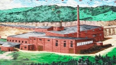 Shale Hill Brick & Tile Plant Mural Detail image. Click for full size.
