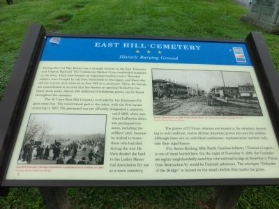 East Hill Cemetery Marker image. Click for full size.