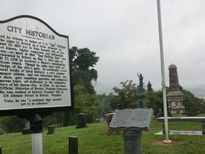 City Historian Marker in East Hill Cemetery image. Click for full size.
