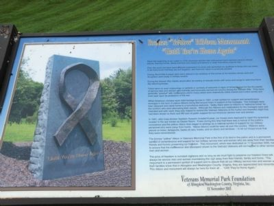 "Bronze ""Yellow"" Ribbon Monument Marker image. Click for full size."
