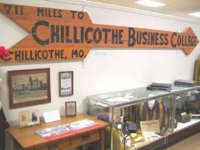 Chillicothe Business College Sign image. Click for full size.