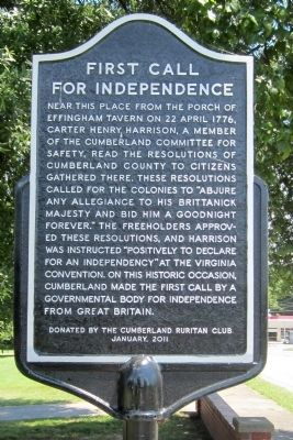 First Call for Independence Marker image. Click for full size.