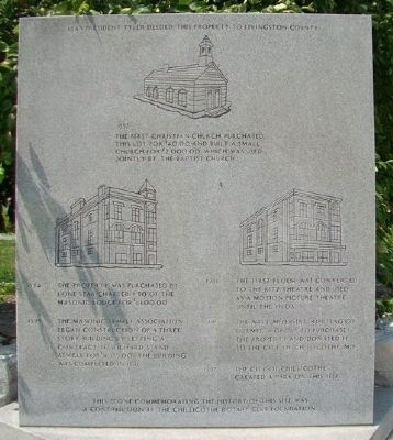 History of the NW Corner of Washington and Clay Streets Marker image. Click for full size.