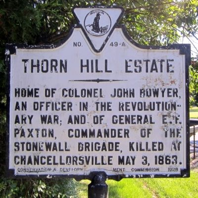 Thorn Hill Estate Marker image. Click for full size.