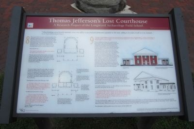 Thomas Jefferson�s Lost Courthouse Marker (3 of 3) image. Click for full size.