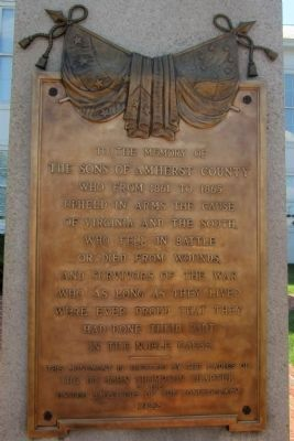 Amherst County Confederate Soldiers Monument image. Click for full size.