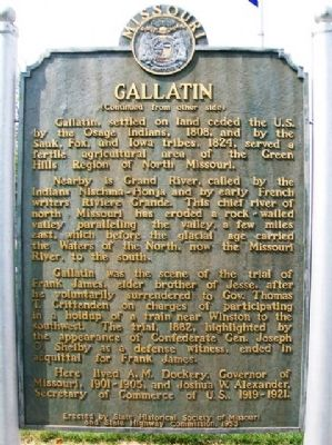 Gallatin Marker (back) image. Click for full size.
