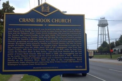Crane Hook Church Marker image. Click for full size.