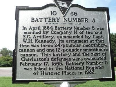 Battery Number 5 Marker (Side 2) image. Click for full size.