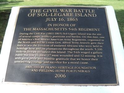 Battle of Sol-Legare Island Marker Photo, Click for full size
