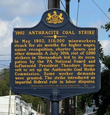 1902 Anthracite Coal Strike Marker image. Click for full size.