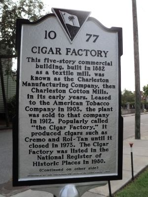 Cigar Factory Marker image. Click for full size.