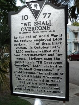 """We Shall Overcome"" Marker image. Click for full size."