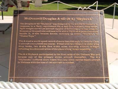 "Douglas A-4 ""Skyhawk"" Marker Panel 1 image. Click for full size."