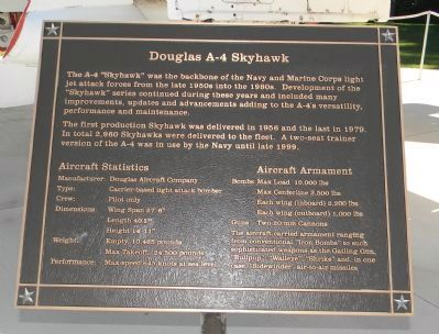 "Douglas A-4 ""Skyhawk"" Marker Panel 2 image. Click for full size."