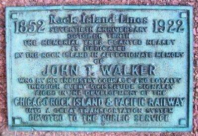John T. Walker Marker image. Click for full size.