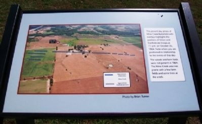 Mine Creek Battlefield Aerial Overlay Marker image. Click for full size.