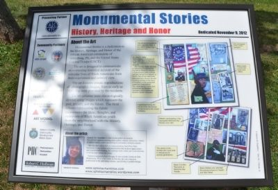 Monumental Stories Marker image. Click for full size.