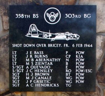 Lt J E Bass Pilot and Crew Marker image. Click for full size.