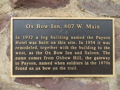 Ox Bow Inn Marker image. Click for full size.