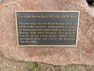 Site of the Herron Hotel Marker image. Click for full size.