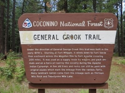 General Crook Trail Marker image. Click for full size.