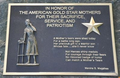 Gold Star Mothers Memorial image. Click for full size.