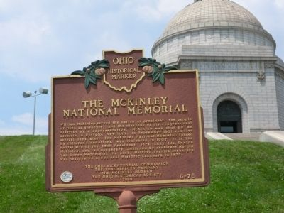 The McKinley National Memorial Marker image. Click for full size.