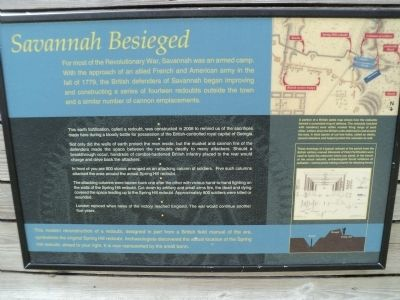 Savannah Besieged Marker image. Click for full size.