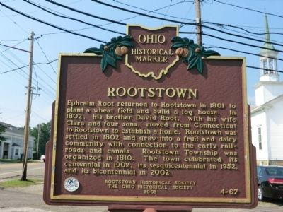 Rootstown Marker image. Click for full size.