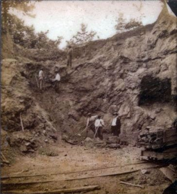 Ore Bank, Elizabeth Furnace, 1872 image. Click for full size.