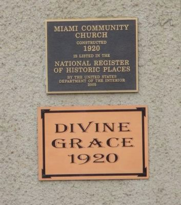 Miami Community Church Marker image. Click for full size.