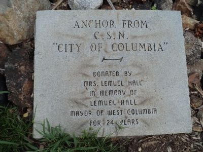"""City of Columbia"" Anchor Marker image. Click for full size."
