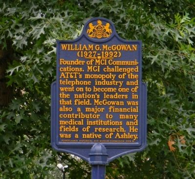 William G. McGowan Marker image. Click for full size.