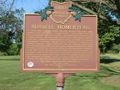 Burrell Homestead Marker image. Click for full size.