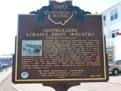 Side Two - Shipbuilding Marker image. Click for full size.