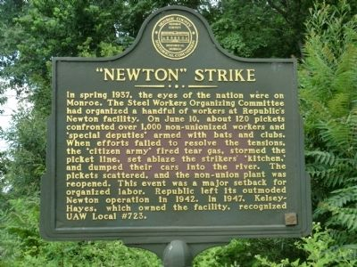 """Newton"" Strike Marker Photo, Click for full size"