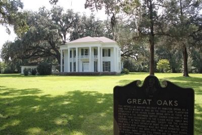 Great Oaks Marker and house image. Click for full size.