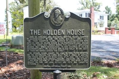 The Holden House Marker image. Click for full size.