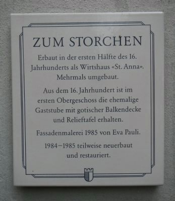 Zum Storchen Marker image. Click for full size.