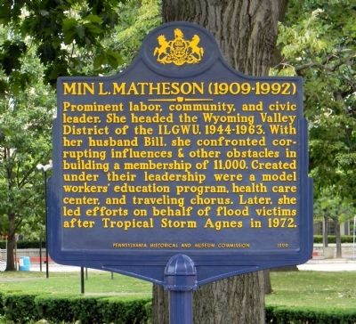 Min L. Matheson Marker image. Click for full size.