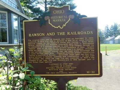 Rawson and the Railroads-Side 1 Marker image. Click for full size.
