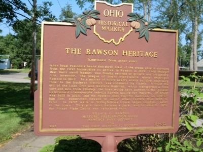 Rawson Heritage-Side 2 Marker image. Click for full size.